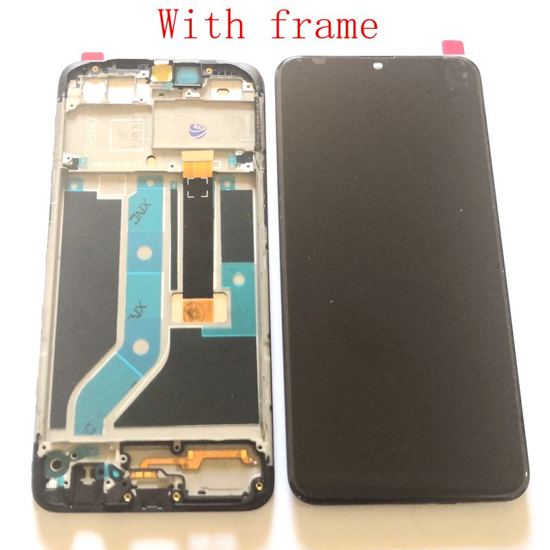 For <font><b>oppo</b></font> <font><b>A5s</b></font> CPH1909 <font><b>LCD</b></font> screen Display with Touch Screen Digitizer Frame Full Assembly A3s <font><b>lcd</b></font> screen Frame image