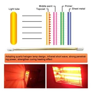 Image 4 - 1000W רכב צבע ריפוי ייבוש מנורת רכב גוף אינפרא אדום צבע מנורת כף יד הלוגן דוד אור בגלים קצרים אינפרא אדום מנורה