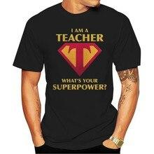 2021 lazer moda 100% algodão o-pescoço camiseta moda masculina eu sou um professor o que é seu superpoder