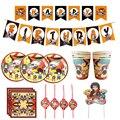 Аниме «Наруто» тема, детский душ аксессуары мультфильм фанаты аниме одноразовая посуда набор чашек, китацский, посуда для вечеринки в честь...
