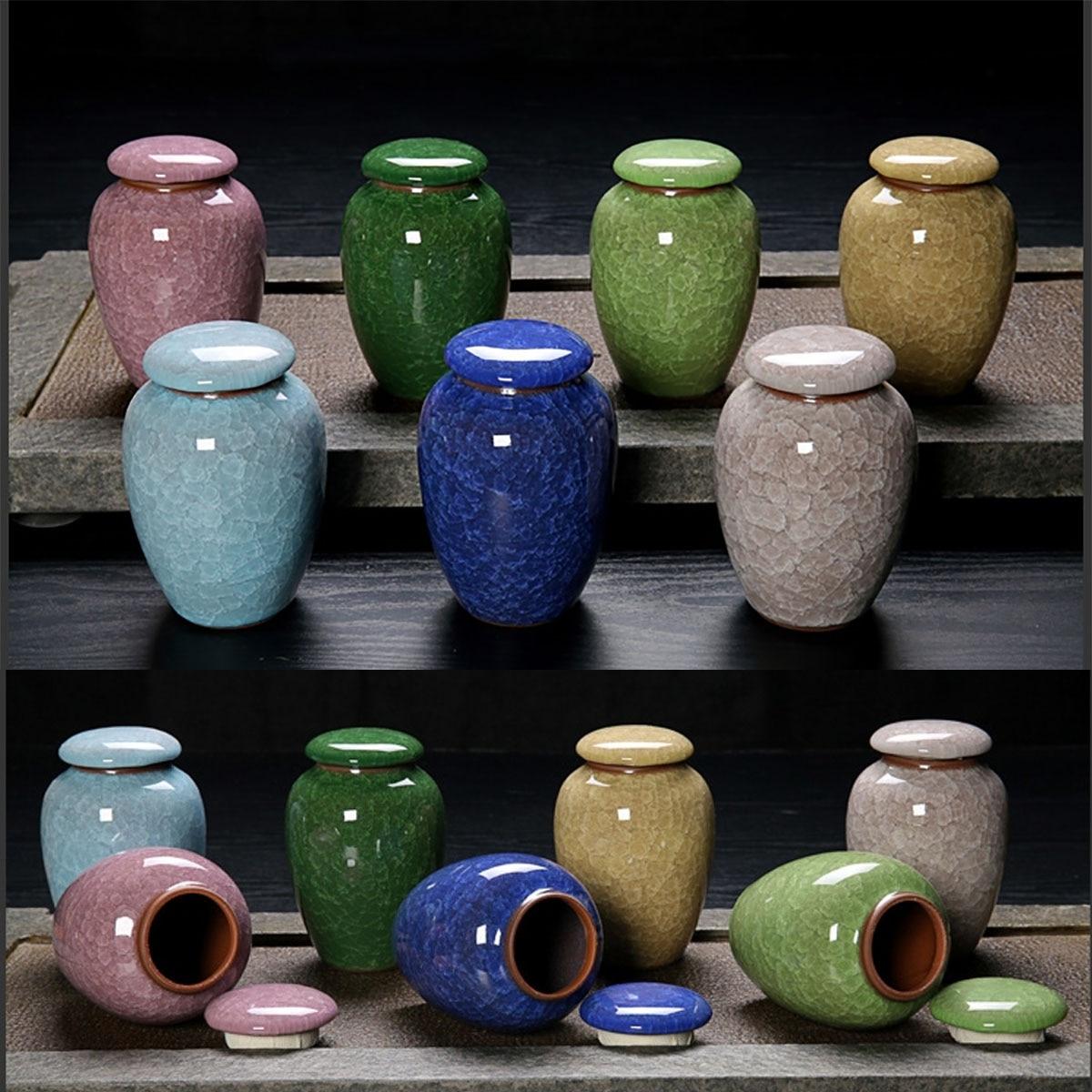 7 couleurs céramique urnes animaux chien chat oiseaux souris crémation cendres urne souvenir cercueil Columbarium animaux mémoriaux