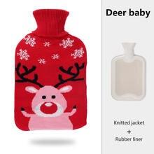 Зимняя вязаная бутылка для горячей воды девочек теплые милые