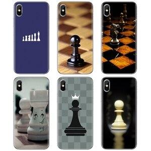 Designer Silicone Phone Case Chess Board Pieces For ZTE Blade A910 A610 A530 A510 For Oneplus One plus 3T 5T 6T 6 7 7T Pro(China)
