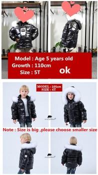 Black winter jacket parka for boys winter coat , 90% down girls jackets children's clothing snow wear kids outerwear boy clothes 2