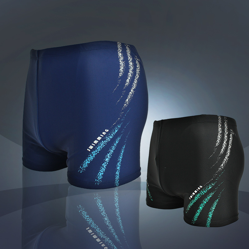 Swimming Pool Market Swimming Trunks Men Short Boxers Quick-Dry Swimming Trunks Sports Adult Loose And Plus-sized Bathing Suit M