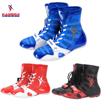 New 3 colors professional boxing shoes Authentic wrestling shoes for men training shoes tendon at the end leather sneakers