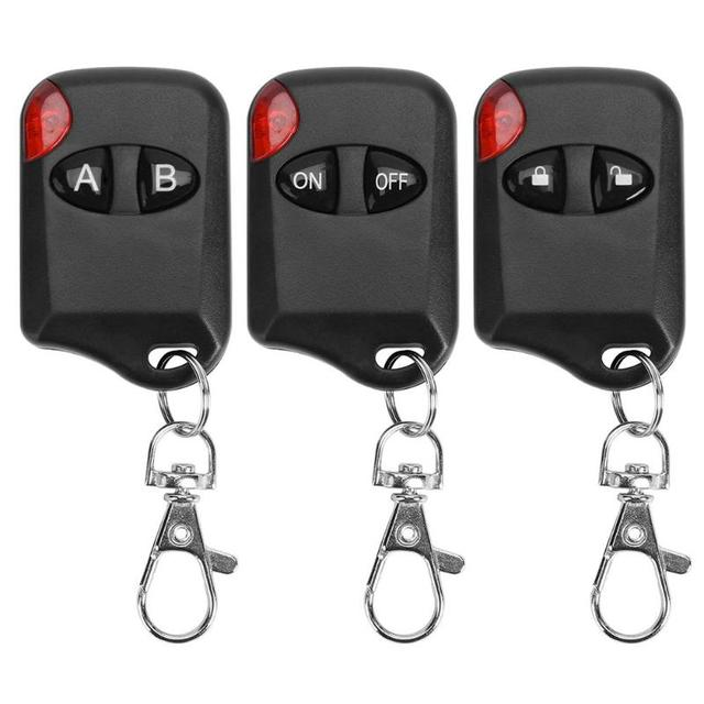 AK KB1810 4 Buttons 433MHZ Remote Control Universal Copy Duplicator Electric Switch for Garage Door Alarm Automatic Doors