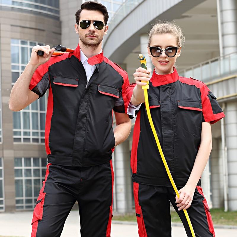 Working Clothing Workwear Clothes Men Women Overalls Workmen Uniform Car Workshop Fashion Work Suit Mechanical Workshop Jacket