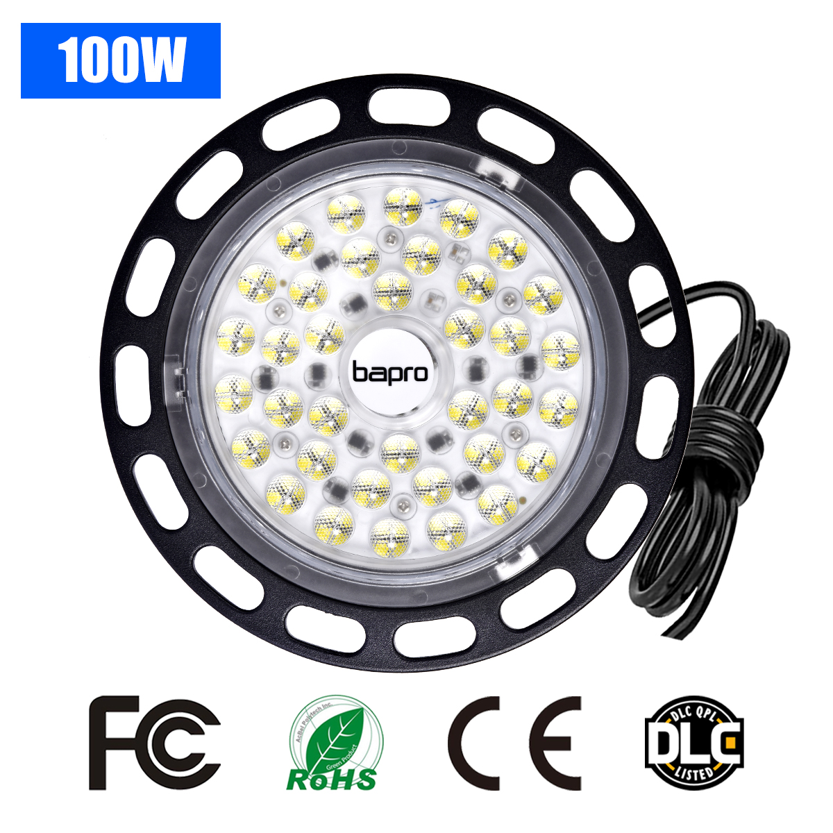 Lighting Industrial 100W UFO LED High Bay Lights 220V Waterproof IP44 Commercial Lighting Industrial Warehouse Led High Bay Lamp