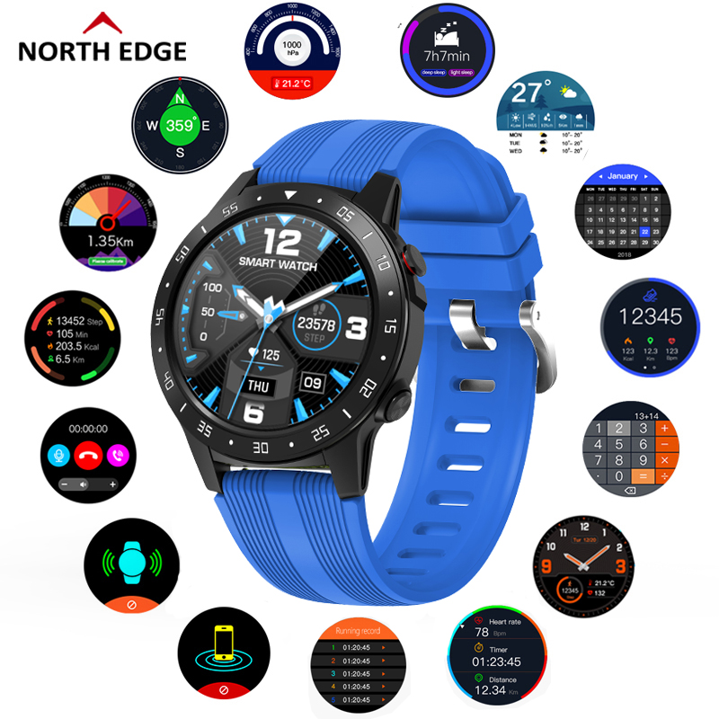 North Edge GPS Sports Watch Bluetooth Call Multi-Sport Mode Compass Altitude Outdoor Running Music Smart Watch Heart Rate