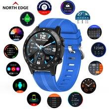 North edge gps esportes relógio bluetooth chamada multi esporte modo bússola altitude ao ar livre correndo música relógio inteligente freqüência cardíaca