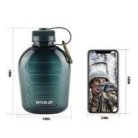 1L wasser flasche Military Kantine Wasser Flasche Outdoor Sport Wandern Camping Wasser Flasche Tragbare Mit Strapun-in Sportflaschen aus Sport und Unterhaltung bei