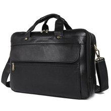 J.M.D 100% Genuine Cow Leather Classic Black Men's Briefcase Handbag Messenger Bag For Business Men 7146A-1 цена