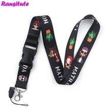 Ransitute Leon ремешок/держатель для ключей для мобильного телефона/ремешок для шеи и кольцо для ключей лента Веревка DIY Ювелирные изделия R608