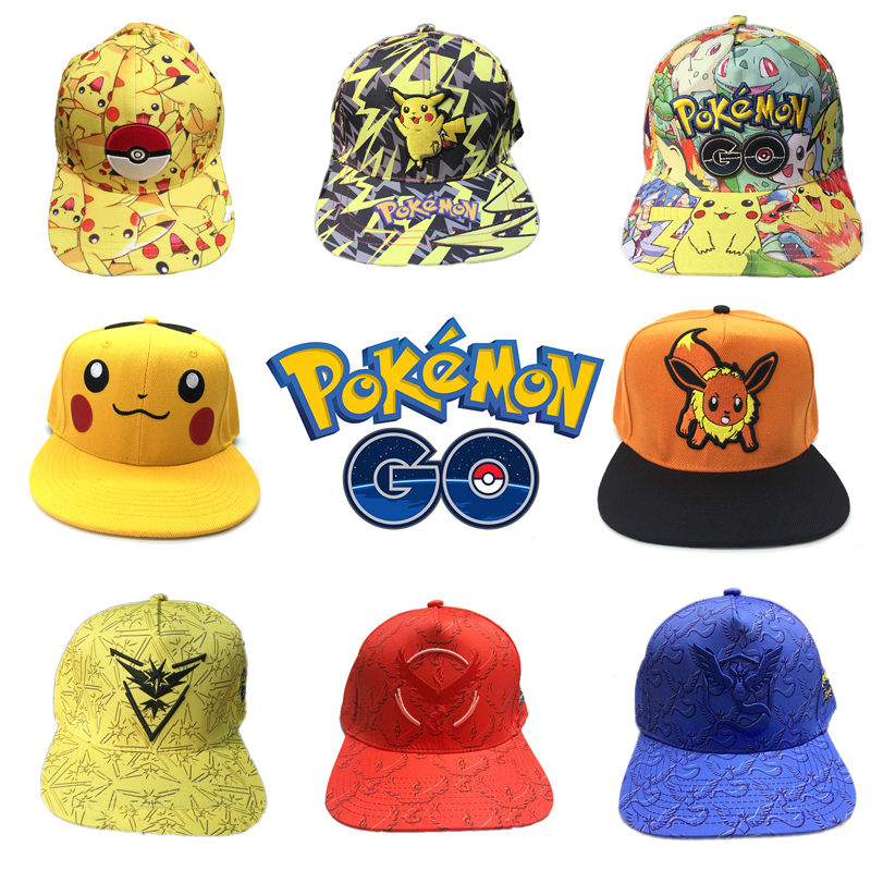 Pokemon Pocket Monster Figure Hat Toy Embroidery Baseball Hats Pikachu Children Cosplay Cartoon Hat Kids Gift