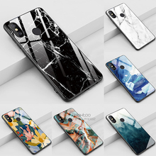 Fashion tempered glass phone Case For samsung