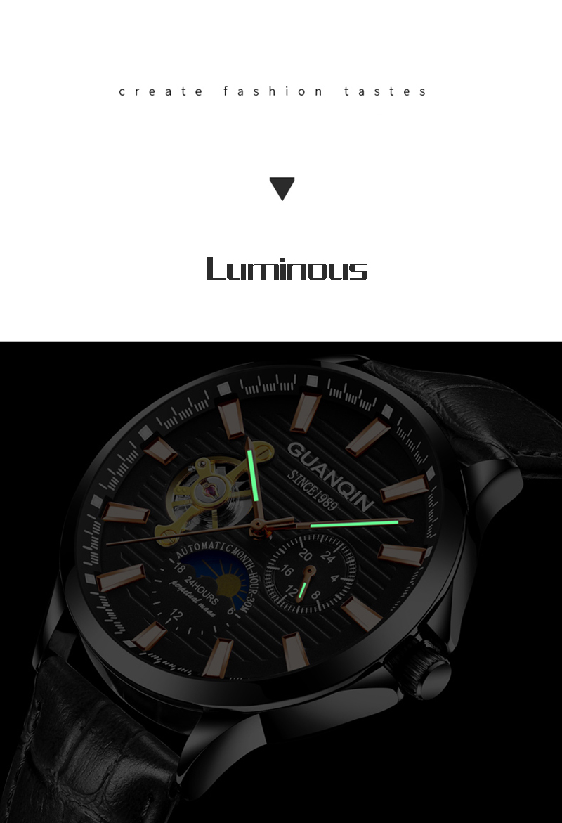 H71b8ceb861554a62bddd8dfec1069f5dr GUANQIN 2019 automatic watch clock men waterproof stainless steel mechanical top brand luxury skeleton watch relogio masculino