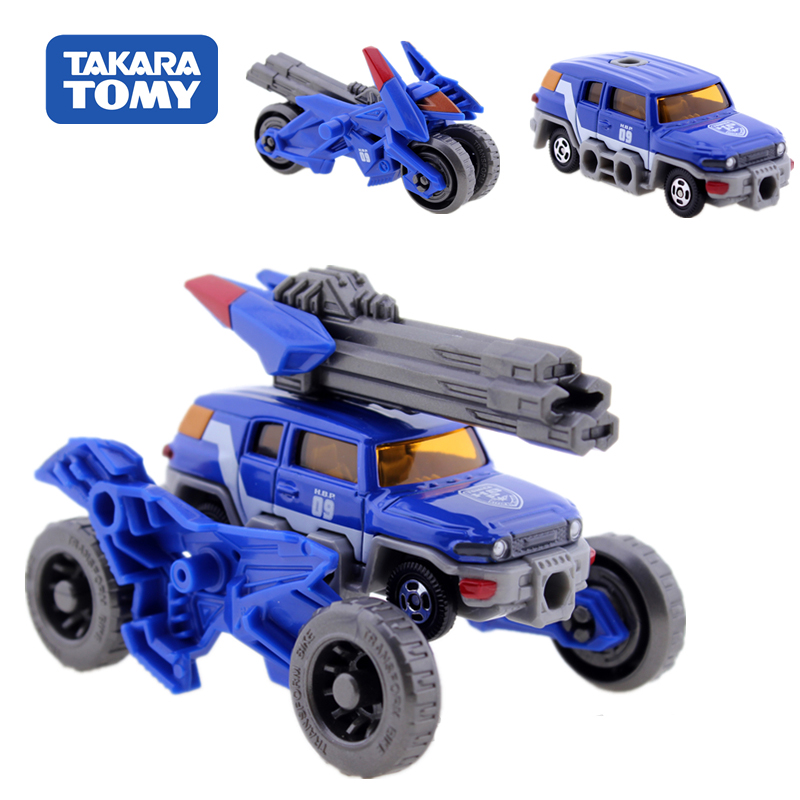 TAKARA TOMY <font><b>2</b></font> In 1 Action Figure Children Gifts Doll <font><b>Toys</b></font> <font><b>Transformation</b></font> Robot HBP09 Beach Motorcycle <font><b>Toy</b></font> image