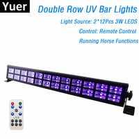 24 LED s Disco UV barre lumières fête Dj lampe UV couleur mur LED laveuse lumières pour noël Laser projecteur scène mur laveuse lumières