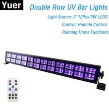 24 LEDs Disco UV Barปาร์ตี้Dj UVสีLEDผนังเครื่องซักผ้าสำหรับคริสต์มาสเลเซอร์โปรเจคเตอร์Stageผนังเครื่องซักผ้าไฟ
