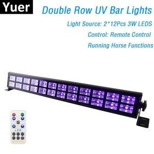 Image 1 - 24 LEDs Disco UV kolumna świetlna Party Dj lampa UV kolor LED naświetlacz liniowy na projektor laserowy na boże narodzenie etap naświetlacz liniowy