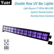 24 נוריות דיסקו UV בר אורות מסיבת Dj מנורת UV צבע LED מכונת כביסה קיר אורות חג המולד לייזר מקרן שלב מכונת כביסה קיר אורות