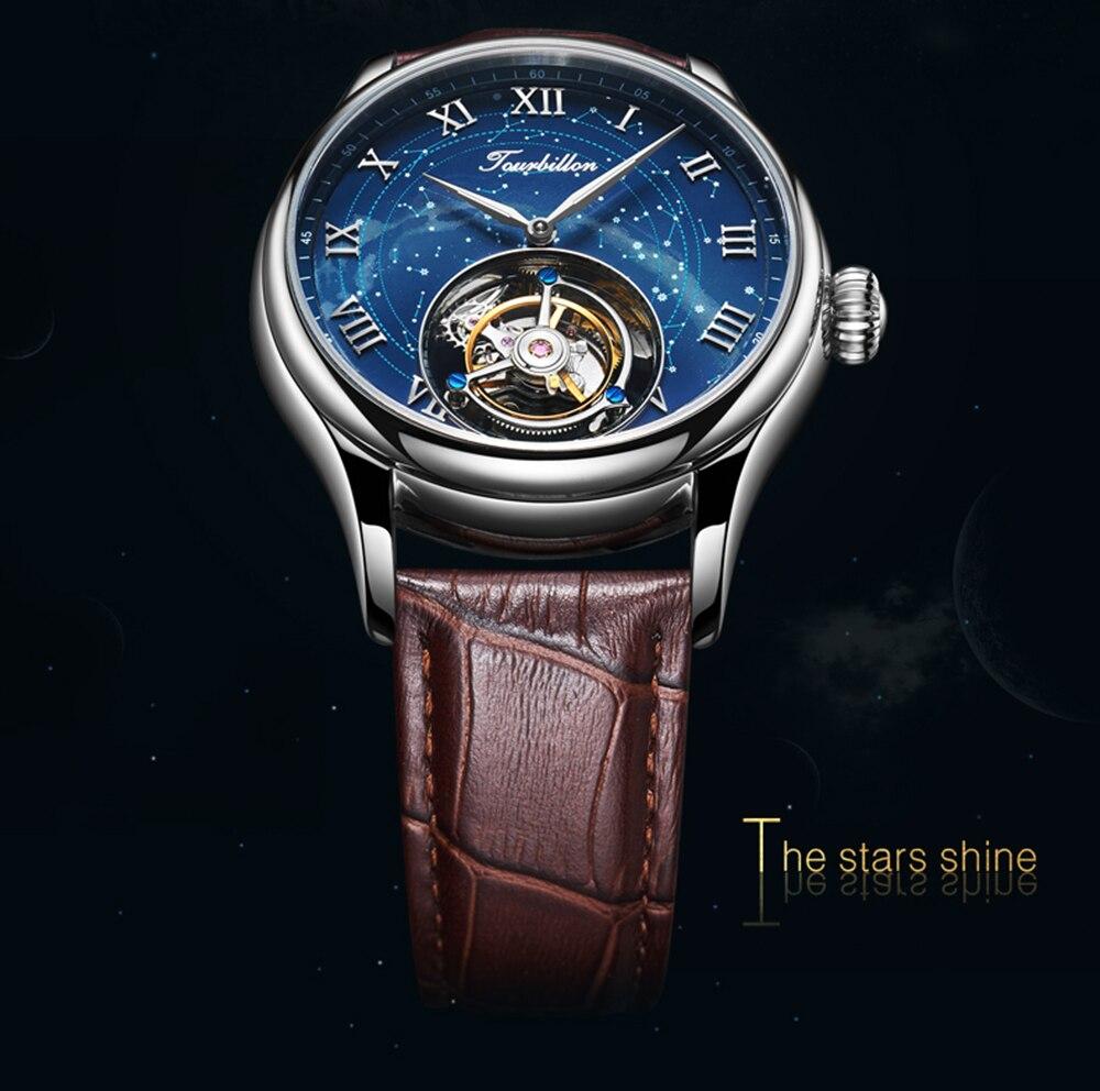 100% Tourbillon GUANQIN Men watches top brand luxury Tourbillon clock men Sapphire Skeleton mechanical watch Relogio Masculino 15