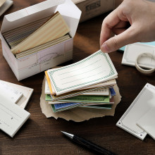 Yoofun 600 folhas retro mínimo ins estilo fronteira bloco de memorando conjunto bala journaling mensagem nota escritório escola material estacionário