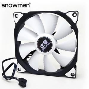 SNOWMAN 120mm PWM 4 Pin Computer Case Fan Silent 12CM Fan CPU Cooling Fan Quiet PC Cooler Fan Case Fans 12V DC Adjust Fan Speed(China)