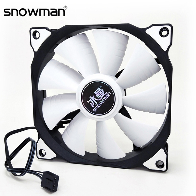SNOWMAN PWM 4 Pin 120mm Computer Case Fan Silent 12CM Fan CPU Cooling RGB Quiet PC Cooler Fan Case Fans 12V DC Adjust Fan Speed