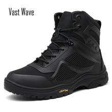Vastwave Trekking buty wojskowe buty wojskowe mężczyźni buty taktyczne Zip armii taktyczne pustynne buty wojskowe bezpieczeństwa but trekingowy śnieg tanie tanio vast wave Desert Boots CN (pochodzenie) Elastycznej tkaniny ANKLE Mieszane kolory Syntetyczny latex Mesh (air mesh) Okrągły nosek