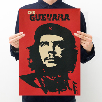 Che Guevara Character Retro Posters Wall Art Nostalgic Old Bar Cafe Vintage Wall Sticker 51.5x36cm Decorative Painting image