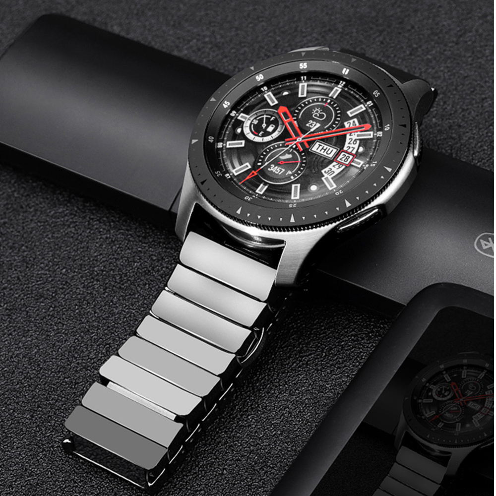 Ceramic strap for <font><b>Samsung</b></font> Galaxy watch <font><b>46mm</b></font> band Gear S3 Frontier bracelet 3 46 22 mm bracelet Huawei watch GT 2 strap GT2 22mm image