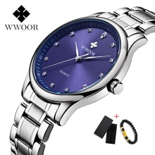 Original Brand Watch Logo Wwoor Men Waterproof Luxury Big Dial Sport Quartz High Quality Male Wristwatch for