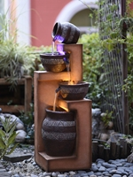 Large Cascade Water fountain garden water fountain terracotta fish pond waterfall powered water feature flowing indoor outdoor