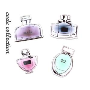 4pcs/set Perfume Bottles Number 5 Jewlery Lapel Pins Brooches Broche Broach Jewelry For Women Girl Pins For Clothes