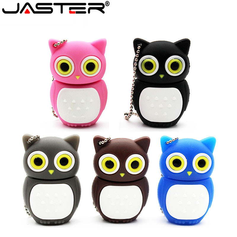 JASTER Cute Cartoon Animal Owl Pendrive 4GB 8GB 16GB 32GB Stick USB Flash Drive