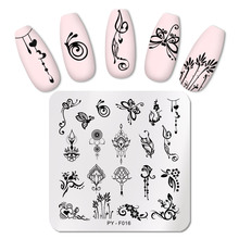 Stencil-Tools Stamping-Plates Nail-Art-Plate-Pictures Pict-You Butterfly-Pattern PY-F016