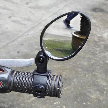 1 para 360 stopni obrót rowerów lusterka wsteczne na kierownicę szerokokątny lusterko wsteczne MTB górski rower szosowy akcesoria tanie i dobre opinie CN (pochodzenie) Mountain Bike Rearview Mirror Handlebar