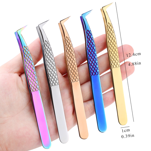 100% Closed High Quality New Style Premium Eyelashes Tweezers Hand anti-slip design Improve for 3D 6D Lashes Extensions 5