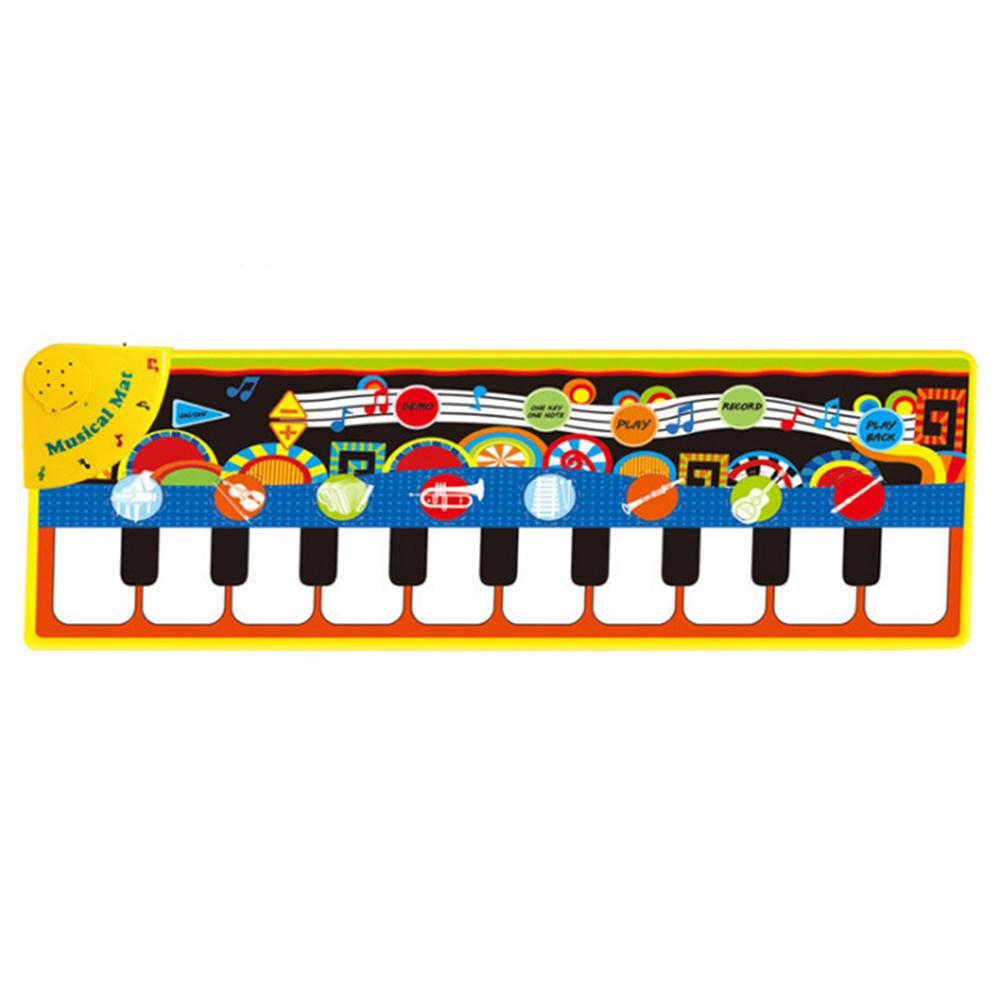 Music Piano Mat Enhance Baby Sense Touch Cute Shape Musical Blanket Toddler Baby Carpet Keyboard Playing Pad Toys