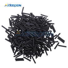 400pcs 3.5mm Heat Shrink Tubing Electrical Connection Wire Wrap 2:1 Polyolefin Shrinking Insulated Sleeving Tubing Black