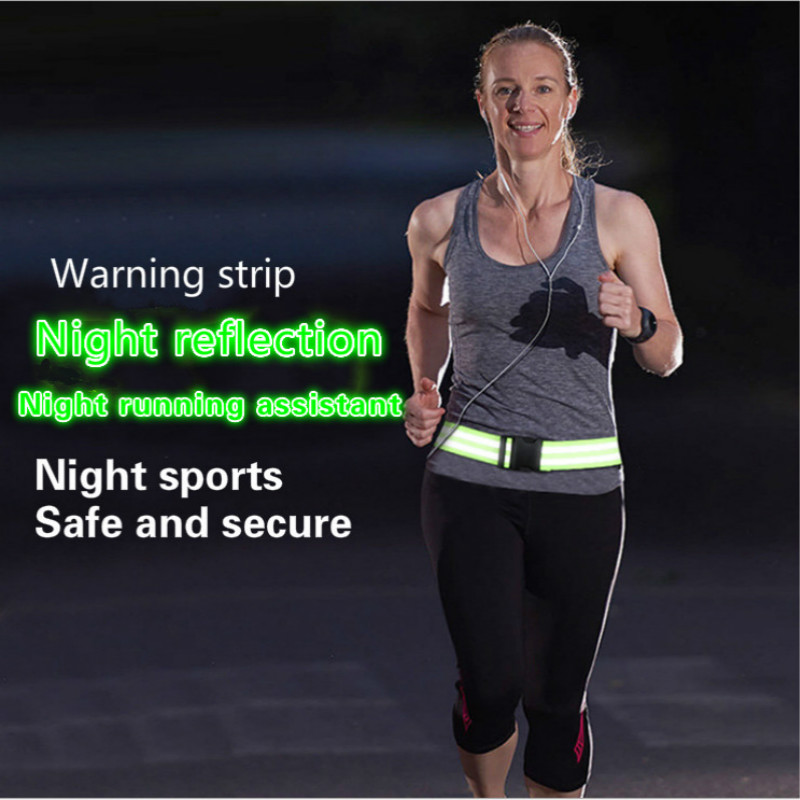 Sports Night Running Reflective Strip Reflective Belt Traffic Warning Belt Night Sports Equipment Night Running Belt