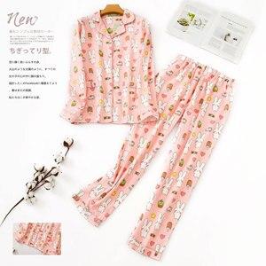 Image 3 - ฤดูหนาว100% แปรงฝ้ายผู้หญิงชุดนอนชุดฤดูใบไม้ร่วงเกาหลีหวานผ้าฝ้ายชุดนอนชุดนอนผู้หญิงPijamas Mujer