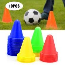 10 pçs marcador de treinamento de futebol sinal balde cone estrada obstáculos roadblocks treinamento de futebol esportes ao ar livre acessórios