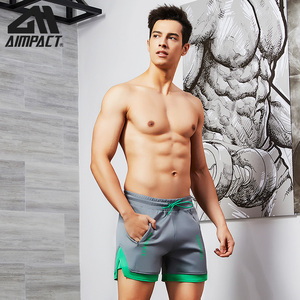 Image 5 - Aimpact Fashion Casual Shorts for Men Athletic Running Workout Gym Training Shorts Sport Soft Homewear Short Trunks AM2209