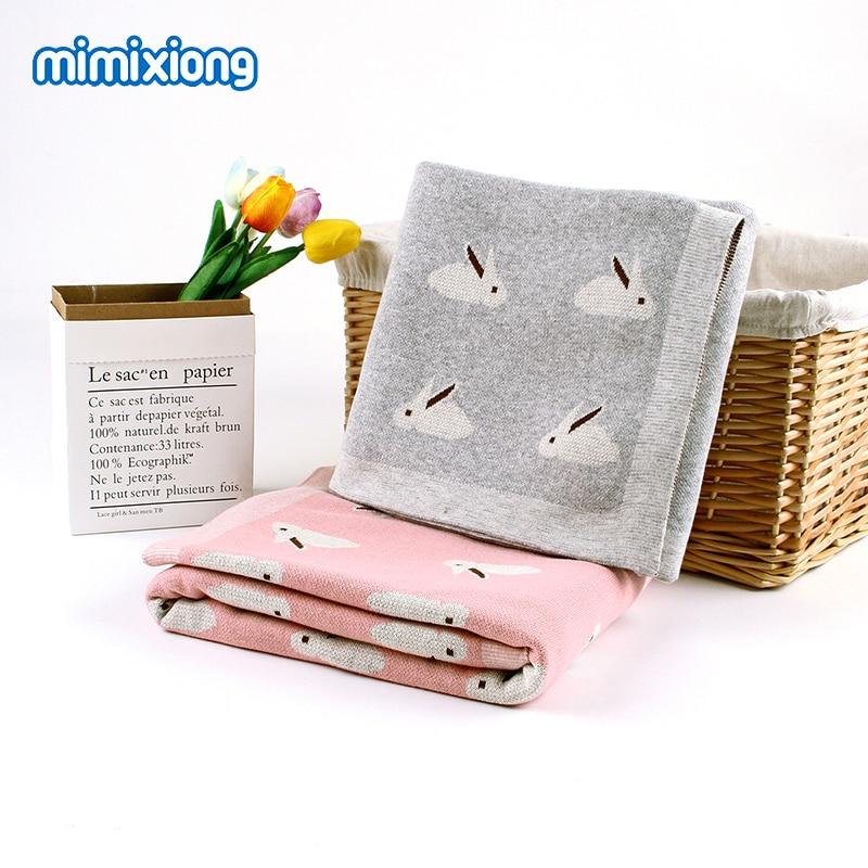 Baby Blankets Super Soft Knitted Infant Bebes Swaddle Wrap Blanket Fashion Autumn Newborn Bedding Blanket Children Covers 100*80