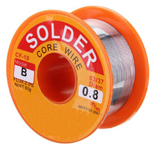 цена на 0.8mm 1mm B type Rosin Core Solder Tin Lead Line Flux Welding Iron Wire Reel