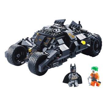 цена на Decool DC comics Super Hero batman Race Truck Car Compatible with Batman 7888 kids gift Model Building Block set Toy