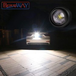 BraveWay LED Extra Reversing Light for Car Lamp Auxiliary Led Work Light 12V Fog Lamp Flood Beam LED Reverse Lights 1156 1157 T5